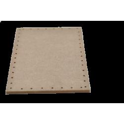 Plywood back rectangular