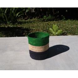 Green raffia
