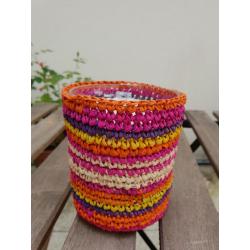 Purple raffia