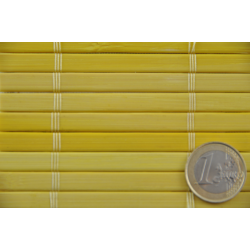 Bamboo mat 7mm Yellow color - Glued on textile