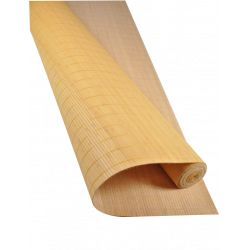 Bamboo mat 7mm Mustard color - Glued on textile - 180cmx500cm