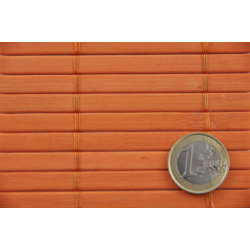Bamboo mat 7mm Orange color - Glued on textile - 180cmx500cm