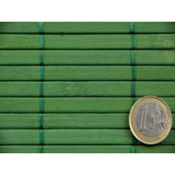 Bamboo mat 7mm Green color - Glued on textile