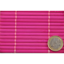 Fuschia Tatami Bamboo mat 4.5 mm Glued on textile