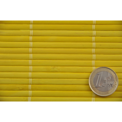 Yellow Tatami Bamboo mat 4.5 mm Glued on textile