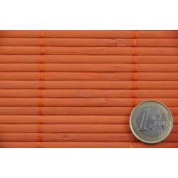 Orange Tatami Bamboo mat 4.5 mm Glued on textile