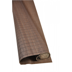 Wengé Tatami Bamboo mat 4.5 mm Glued on textile