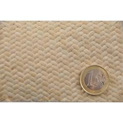 Chevron mat Rattan Core Webbing 3x3 mm, Half bleached